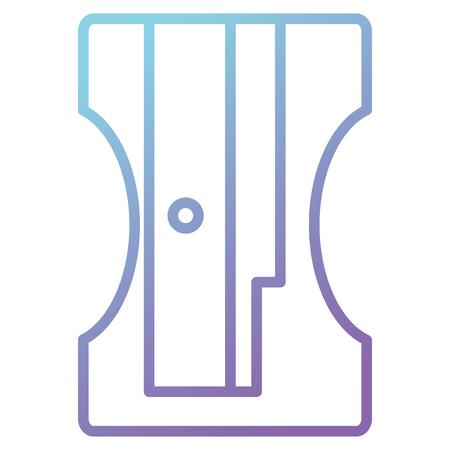 pencil sharpener supply school icon vector illustration design 向量圖像