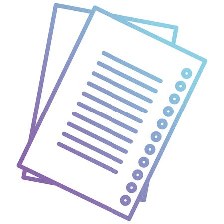 sheet of notebook school vector illustration design
