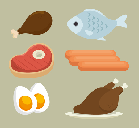group of nutritive food icons vector illustration design