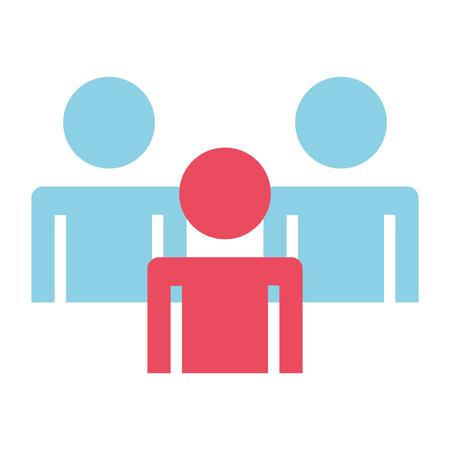 teamwork people human silhouettes vector illustration design 向量圖像