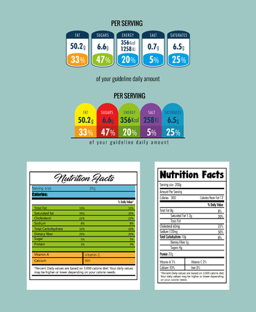 Paper with nutrition facts vector illustration design.