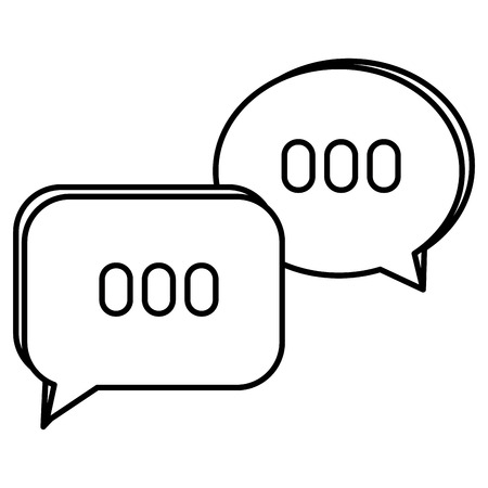 speech bubbles messages icon vector illustration design