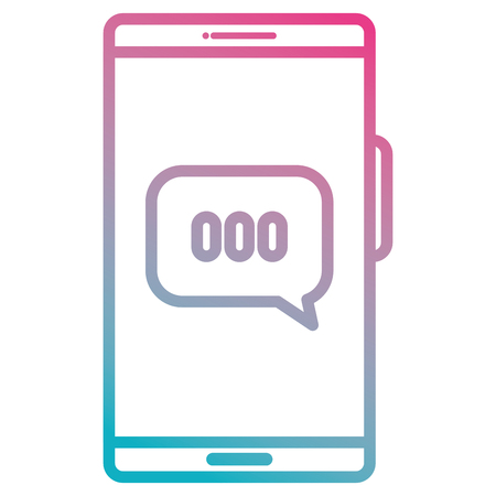 Smartphone with speech bubble vector illustration design Illustration