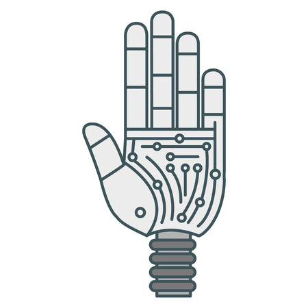 Hand robot humanoid icon vector illustration design