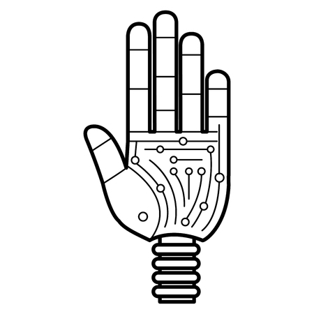 Hand robot humanoid icon vector illustration design 写真素材 - 100912879
