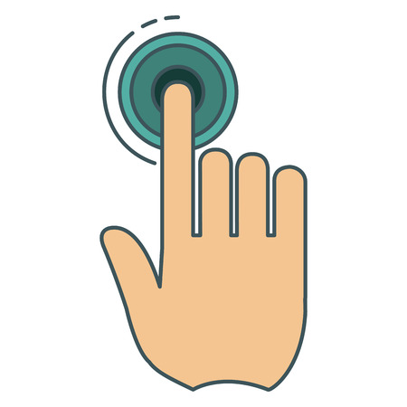 Hand touching isolated icon vector illustration design