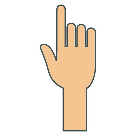 hand touching isolated icon vector illustration design Stock Illustratie