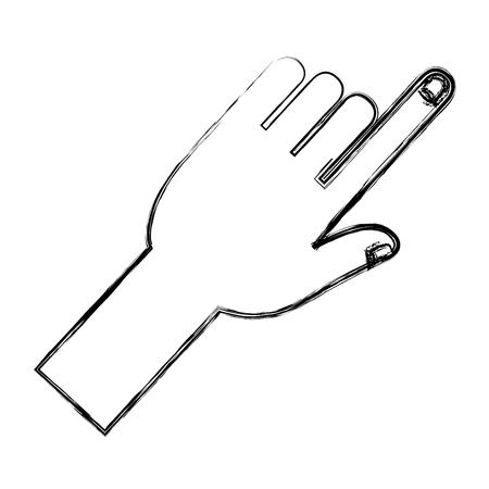 hand touching isolated icon vector illustration design Иллюстрация