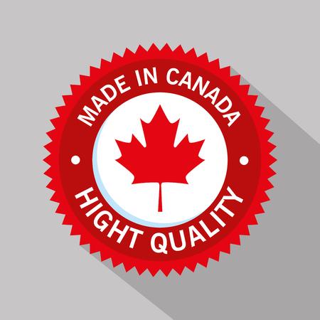 Canada quality seal icon illustration design Foto de archivo - 100754497