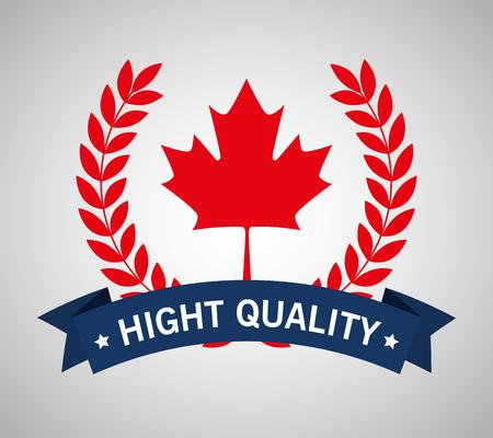 Canada quality seal icon  illustration design Foto de archivo - 100754582