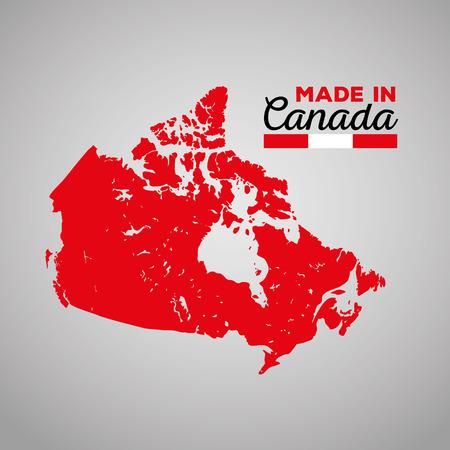 Canada map silhouette icon illustration design 向量圖像