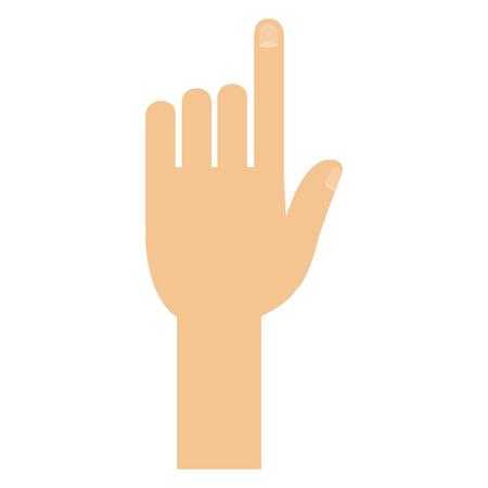 Hand touching isolated icon illustration design Иллюстрация
