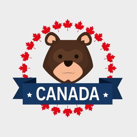 Canada quality seal icon illustration design Foto de archivo - 100755455