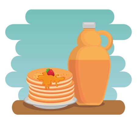 Maple syrup Canadian product illustration design