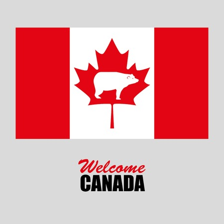 Canada flag celebration day illustration design Illustration