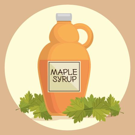 Maple syrup Canadian product vector illustration design.