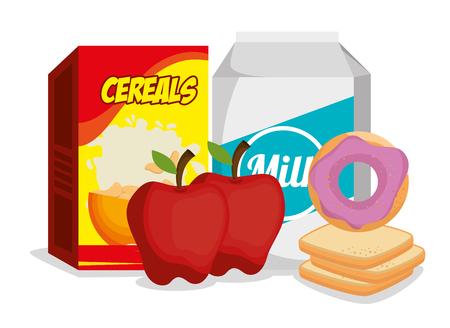 Group of nutritive food icons vector illustration design Illusztráció