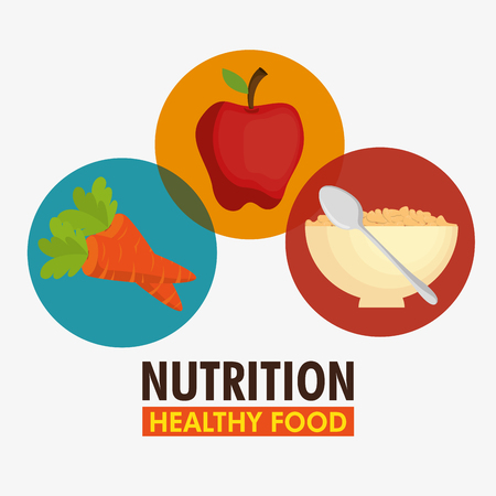 Group of nutritive food icons vector illustration design 向量圖像