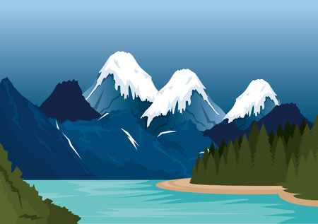 Canadian landscape scene icon vector illustration design Imagens - 100734733