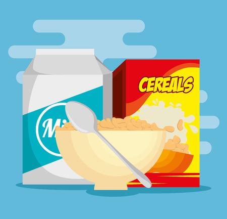 Group of nutritive food icons vector illustration design Illustration