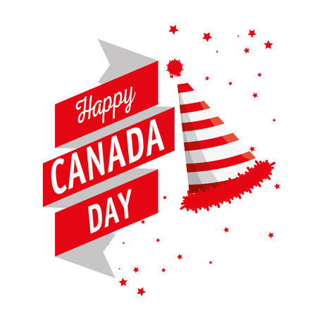 Happy canada day celebration poster vector illustration design