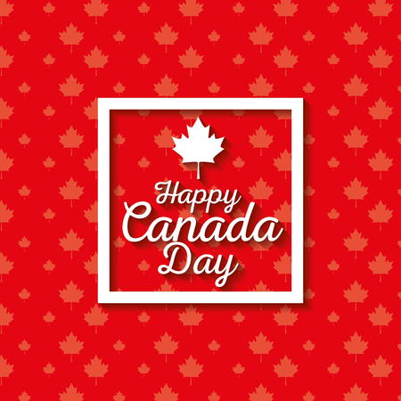 Happy canada day celebration poster vector illustration design Фото со стока - 100734975