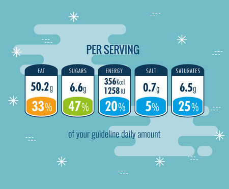 Nutrition facts per serving infographic vector illustration design Иллюстрация
