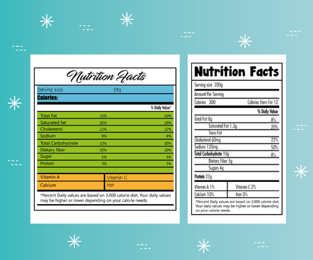 Paper with nutrition facts vector illustration design
