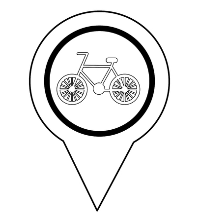 pin pointer location with bicycle icon vector illustration design 版權商用圖片 - 100822652