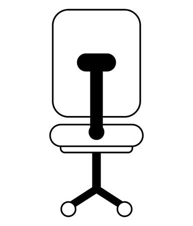 office chair with wheels icon vector illustration sketch design Foto de archivo - 100822664