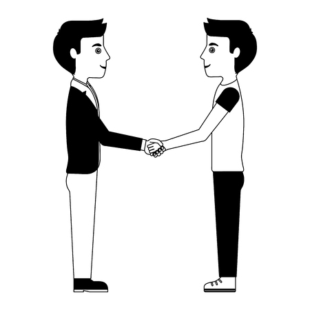 two students hand shake vector illustration design Illustration