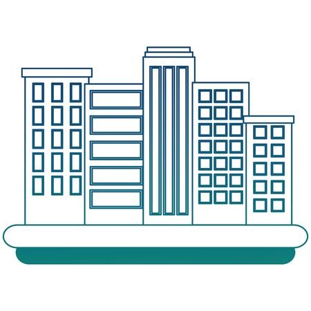 buildings cityscape scene icon vector illustration design