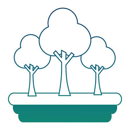 Forest scene icon vector illustration design 向量圖像