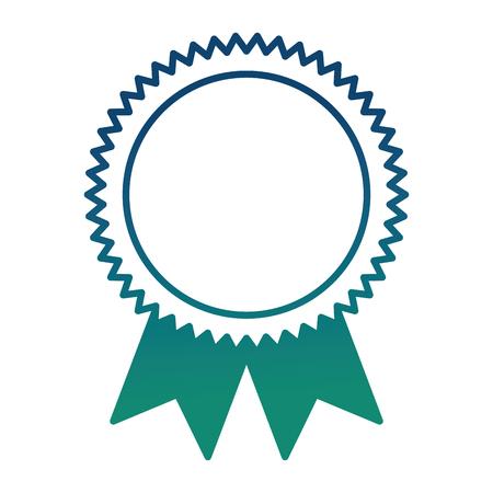 medal winner award icon vector illustration design