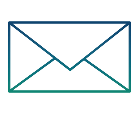 envelope mail isolated icon vector illustration design Ilustracja