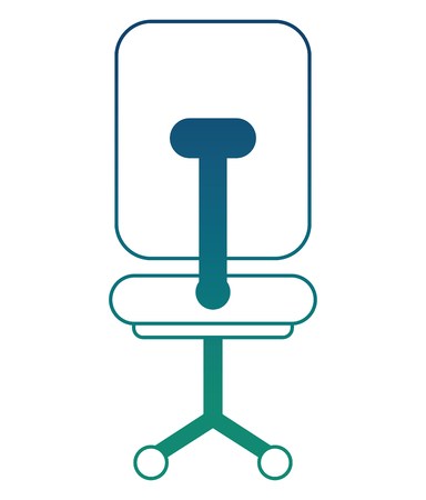 office chair with wheels icon vector illustration sketch design