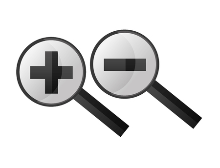 search magnifying glasses with plus and minus sign vector illustration design 版權商用圖片 - 100826645