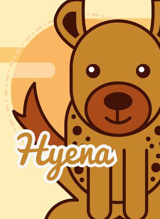 hyena cartoon poster african animal vector illustration