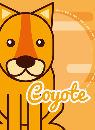 coyote cartoon poster african animal vector illustration