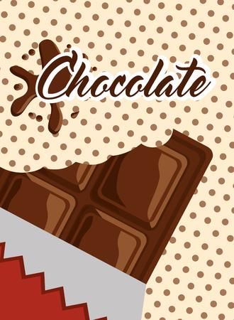 chocolate bar wrap splash polka dots vector illustration Illustration