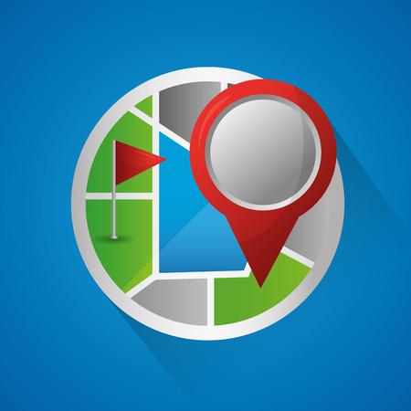 gps navigation application blue background colorful sticker maps vector illustration