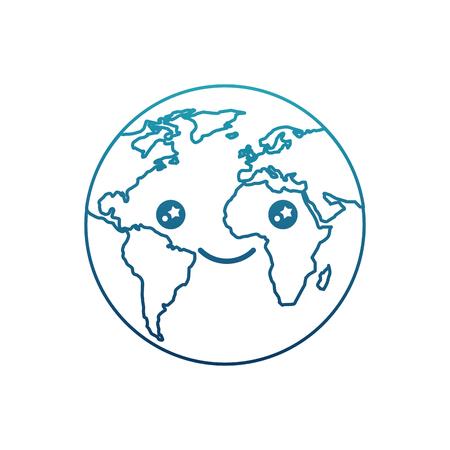 world planet earth  character vector illustration design