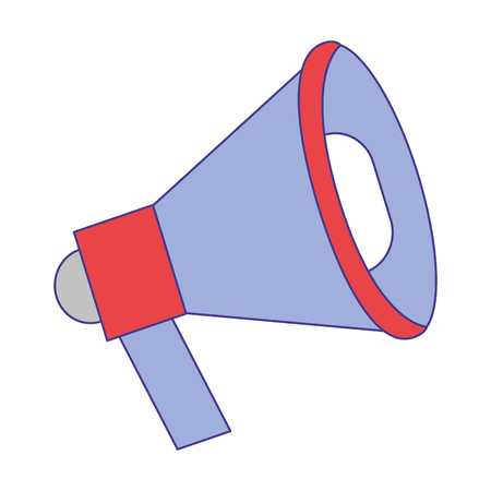 megaphone message announce speak icon vector illustration