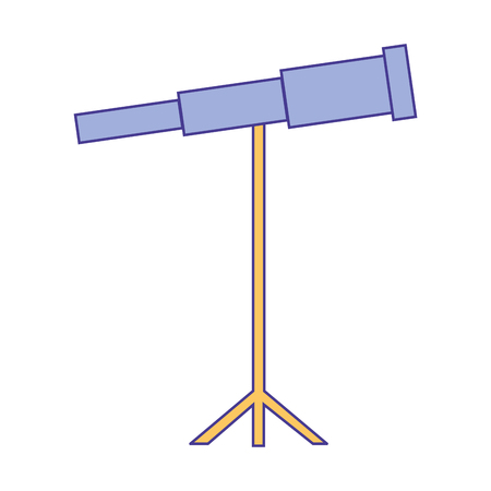 telescope science instrument optical image vector illustration Ilustração