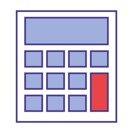 calculator device maths financial image vector illustration Stock Illustratie