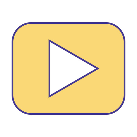 video player web button image vector illustration