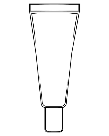 cream or lotion cosmetic tube for skin care product vector illustration thin line