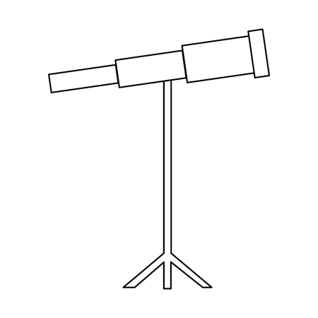telescope science instrument optical image vector illustration thin line