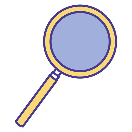 magnifying glass search analysis find image vector illustration