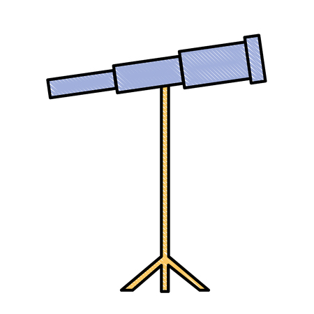 telescope science instrument optical image vector illustration drawing